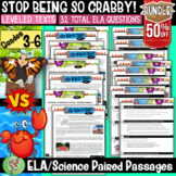 Reading Comprehension Passage and Questions Bundle (Red Crab Migration) Gr 3-6