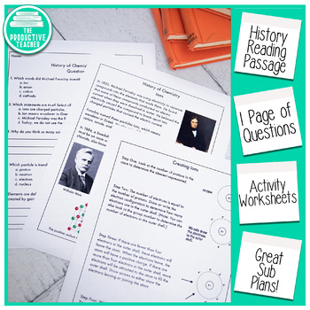 Reading Comprehension Passage and Questions: History of Chemistry Ions