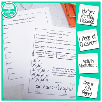 Reading Comprehension Passage and Questions: History of Chemistry Orbitals