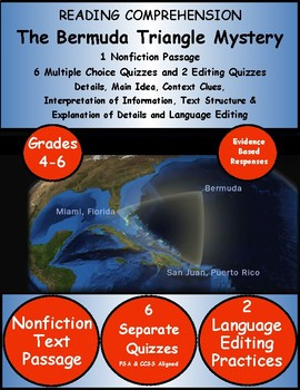 Reading Comprehension Passage and Questions Informational Text Evidence Based