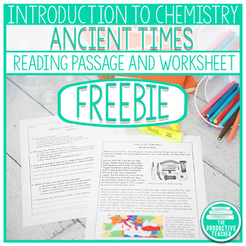 Reading Comprehension Passage and Questions: History of Chemistry Ancient Times