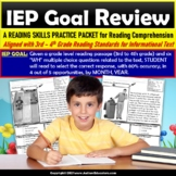 Reading Comprehension Passage and WH Questions 4th Grade I