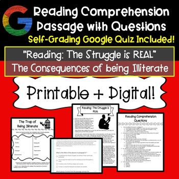 Reading Comprehension Passage with Questions | EOC Prep | TpT