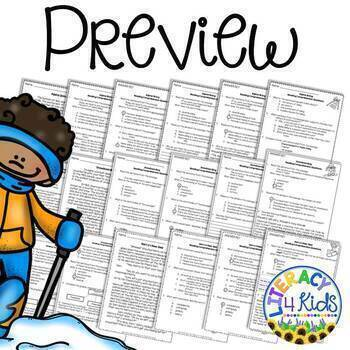 Reading Comprehension Passages Winter Themed