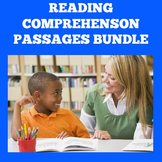Reading Comprehension Passages | 3rd 4th 5th 6th Grade | W