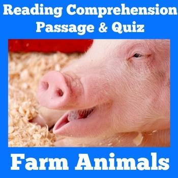 Farm Animals Activity   Farm Animals Reading Passage