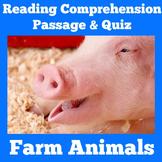 Farm Animals Reading Passage | Farm Animals Activity