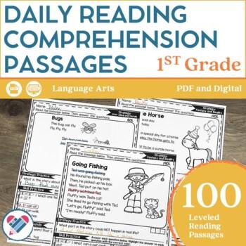 Reading Comprehension Passages 1ST GRADE