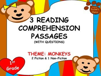 Reading Comprehension Passages - 1st Grade (3 Passages)