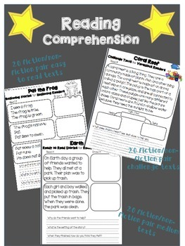 Reading Comprehension Passages #2 { 60 fiction and non-fiction paired passages}