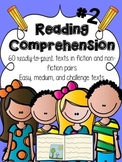 Reading Comprehension Passages #2 { 60 PAIRED PASSAGES} Re
