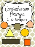 Reading Comprehension Passages - 2-D Shapes