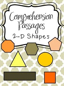 Reading Comprehension Passages - 2-D Shapes