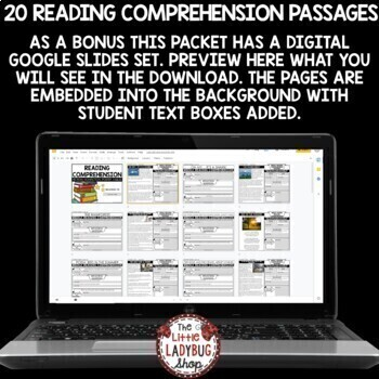 Reading Comprehension Passages 4th Grade and More