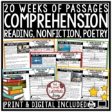Reading Comprehension Passages and Questions 4th Grade, 3rd, & 5th Grade