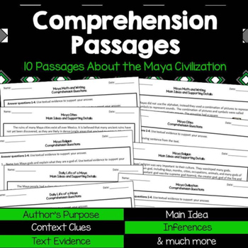 Reading Comprehension Passages and Questions