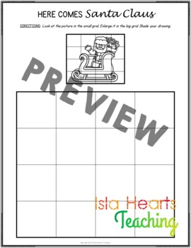 Christmas Early Finisher Activities (Enlargement and Scaling Pictures)