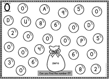 Number Identification Worksheets