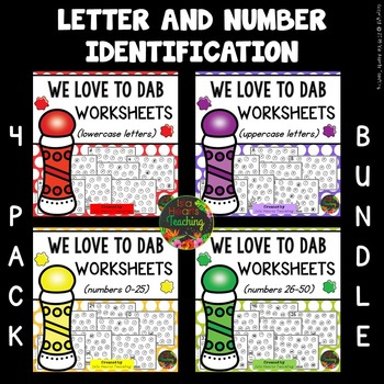 Letter Identification Worksheets and Number Identification