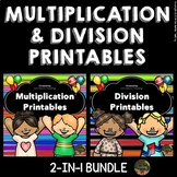 Multiplication and Division Worksheets and Activities Bundle