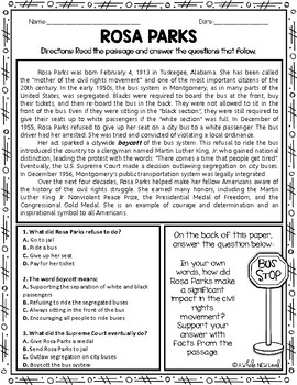 Nonfiction Reading Comprehension Passages
