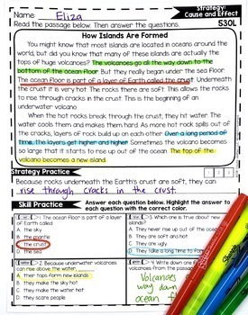 Reading Comprehension Passages 3RD GRADE