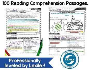 Reading Comprehension Passages 4TH GRADE