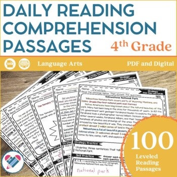 Reading Comprehension Passages 4TH GRADE DISTANCE LEARNING