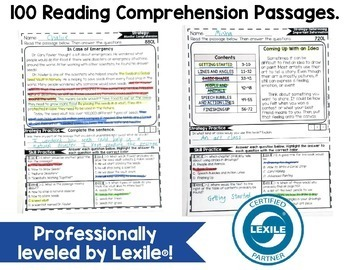 Reading Comprehension Passages 5TH GRADE