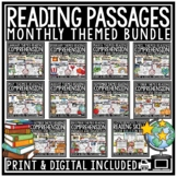 Reading Comprehension Passages & Questions 4th Grade 3rd G