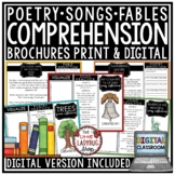 Poetry Reading Comprehension Passages 4th Grade & 5th Grade & Fable Reading
