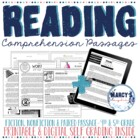 Reading Comprehension Passages 4th grade, 5th grade STAAR Practice worksheets