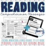 Reading Comprehension Passages 4th and 5th grade Summer Pr