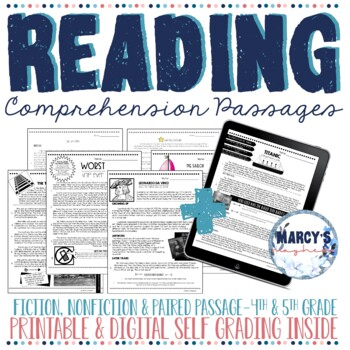 Reading Comprehension Passages 4th grade, 5th grade STAAR