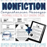 NONFICTION Reading Comprehension Passages with questions 4th & 5th grade