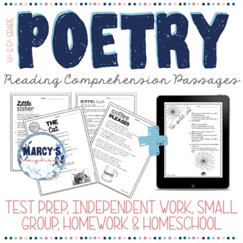 poetry reading comprehension passages with questions 4th grade and 5th. Black Bedroom Furniture Sets. Home Design Ideas