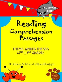 Reading Comprehension Passages (Non-Fiction and Fiction Passages Included)