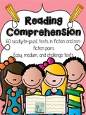 Reading Comprehension Passages {60 fiction and non-fiction