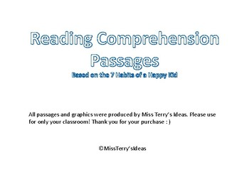 Reading Comprehension Passages (7Habits of a Happy Kid)