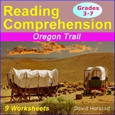 Reading Comprehension Passages and Questions | 9 Worksheets | Oregon Trail