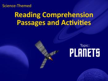 Reading Comprehension Passages, Activities, Quizzes for Autism – Planets Theme