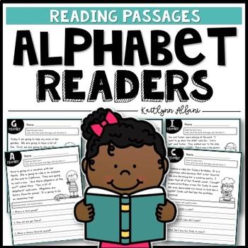 Reading Comprehension Passages - Alphabet Readers
