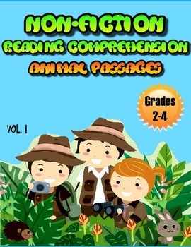 Reading Comprehension Passages Animals Volume One Grades 2-4