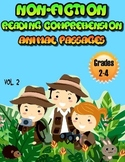 Reading Comprehension Passages Animals Volume Two Grades 2-4