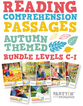 Reading Comprehension Passages Autumn Themed Bundle Guided Reading Levels C-I