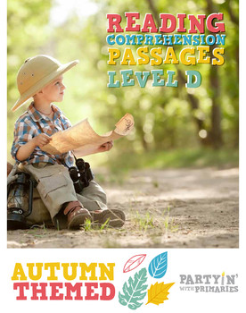 Reading Comprehension Passages Autumn Themed: Guided Reading Level D