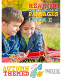 Reading Comprehension Passages Autumn Themed: Guided Reading Level E