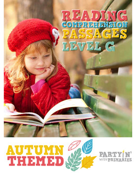 Reading Comprehension Passages Autumn Themed: Guided Reading Level G