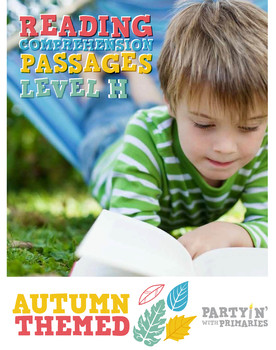 Reading Comprehension Passages Autumn Themed: Guided Reading Level H