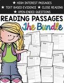 Text Evidence Reading Comprehension Passages {BUNDLED 78 Passages}